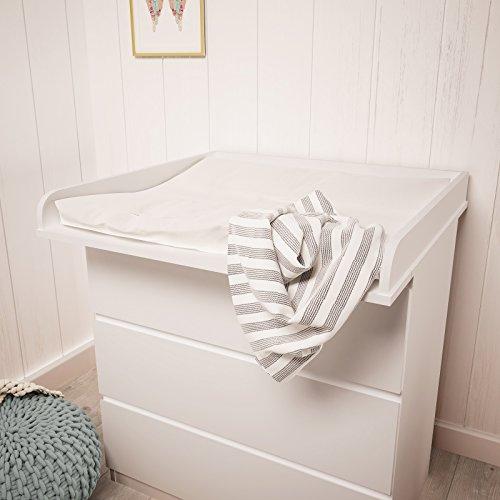 Polini Kids Wickelaufsatz Wickeltischaufsatz für Kommode MALM IKEA aus Holz in verschiedenen Farben (Weiß)