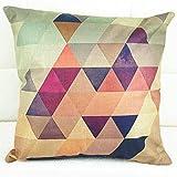 Nunubee Kissenbezug Geometrisch Baumwolle Leinen deko Kissen Sofa Cover Industrial deko Wohnzimmer Kissenbezug 45x45