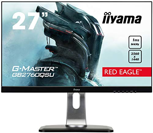 "iiyama G-Master GB2760QSU-B1 LED Display 68,6 cm (27"") Wide Quad HD Plana Mate Negro - Monitor (68,6 cm (27""), 2560 x 1440 Pixeles, Wide Quad HD, LED,"