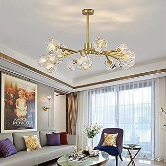 Lampadario di cristallo di lusso leggero, lampadario a LED creativo personalizzato per soggiorno, albero dorato 杈 lampada molecolare domestica