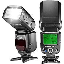 Neewer NW620 Manual Flash Speedlite con pantalla LCD para Canon Nikon Panasonic Olympus Pentax y otras cámaras réflex digitales, tales como Canon7D Mark II,5D Mark II III IV,1300D,Nikon D7200,D7100,D7000,D5500,D5300