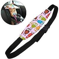 Soporte de Cabeza del Cochecito para Bebé Niños, Arnés Cinturón Ajustable de Seguridad Fijación Protección de Cabeza Posicionador de Asientos del Sueño