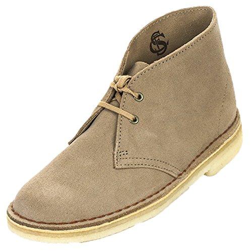 Clarks Originals Stivali Desert Boot, Donna, Beige (Beige (SAND SUEDE)), 40