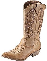 SimpleC Stivali da Cowboy Stivali Western Donna ca0a1f47d79e