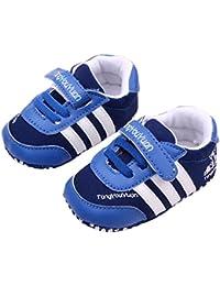 Anna-Kaci Zapatos para niño de estilo deportivo muchachas de los bebés magia del palillo suave de los zapatos 0-18m