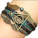 #4: El Regalo's Harry Potter Deathly Hallows Snitch Owl Fashion Bracelet