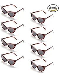 a7ef15b2aca733 ONNEA 8 Paare Party Favors Sonnenbrille Katze Auge Set Sommer Kinder Damen
