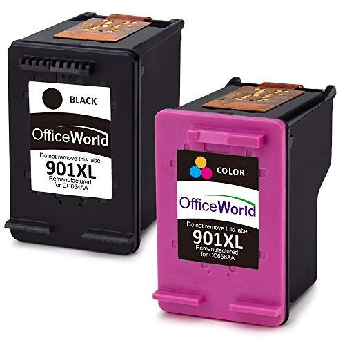 OfficeWorld 901XL Remanufacturado HP 901 Cartuchos