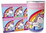 Einhorn Tee + DAS Original aus der Stadt der Einhörner + Einhorn-Trank mit Regenbogengeschmack. Das Geschenk für Einhorn-Fans + 8 lustige Sticker