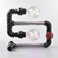 ZYCkeji Zart Wasserrohr Lampe, Business Style Doppelkopf Tischlampe, Schlafzimmer Studie Büro dekorative Tischlampe... preisvergleich bei billige-tabletten.eu