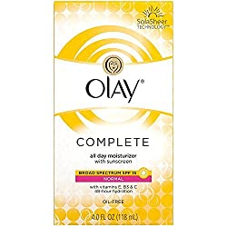 Olay Complete All Day Moisturizer with Sunscreen for Normal Skin, 4 fl oz, 2 count