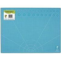 Office Tree® Alfombrilla de corte Cutting Mat–60x 45cm (A2) Azul–ambos lados cuadrícula y marcas para cortes profesional–PVC 5capas reciclable–autorreparable superficie–PREMIUM de calidad