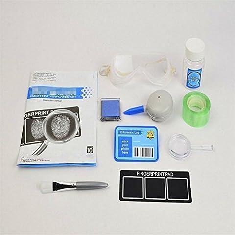 Edealing (TM) DIY Fingerabdruck-Analyse-Spielzeug-Fingerabdruck-Identifikation-Installationssatz-Spiel-kreative Lehrmittel für (Wissenschaft Experimente Licht)