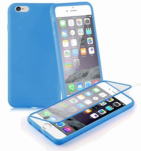 Preisvergleich Produktbild Cadorabo - TPU Silikon Schutzhülle (Full Body Rund-um-Schutz auch für das Display) für > Apple iPhone 6 PLUS / iPhone 6S PLUS < in ALKALI-BLAU