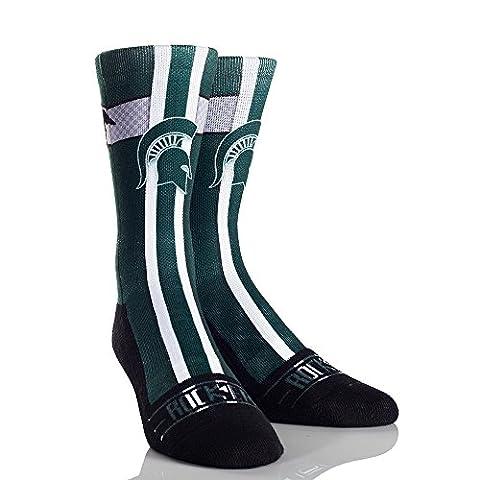 NCAA Michigan State Spartans Jersey Series University Custom Athletic Crew Socks, Large/X-Large,