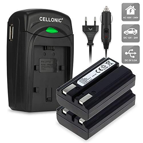 CELLONIC 2X Batería Compatible con Nikon Coolpix 4300 Coolpix 4500 Coolpix 4800 Coolpix 5000 Coolpix 5400 Konica Minolta DiMAGE A200, EN-EL1 NP-800 750mAh, Cargador MH-53 BC-900 bateria Repuesto Pila