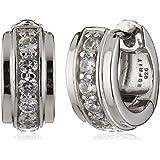 Esprit Damen-Creolen 925 Sterling Silber rhodiniert Zirkonia ESCO91681A000