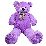 Joyfay Marca oso de peluche 100 - 200 cm gigante de la muñeca de juguete suave de la felpa de peluche oso de peluche de juguete oso peluche gigante peluches gigantes osos de peluche gigantes (230 cm, morado)