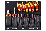 GEDORE 1100 W-002 VDE Werkzeugkarte mit VDE-Zangen/Schraubendreher-Sortiment, 1 Stück