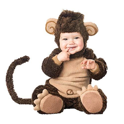NormCorer - Cute Kleinkinder Baby Kostüm - Halloween Kleinkind Faux Tier verkleiden Sich mit Hut und Schuhe für Cosplay (12-18 Monate, AFFE)