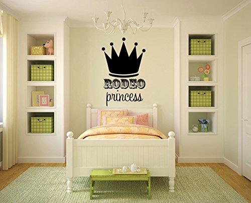 wandaufkleber schlafzimmer schwarz Rodeo Princess für Kinderzimmer oder Mädchenzimmer