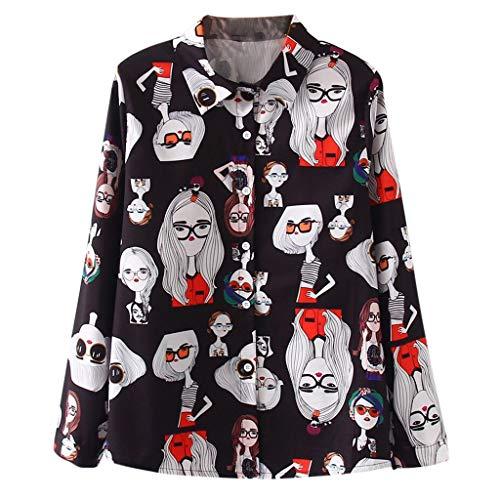 Pullover Sweatshirt für Damen,Kobay 2019 Halloween Heiligabend Weihnachten Christmas Kurzarm Vintage Print Korean Shirt Casual Tops Langarm Bluse -