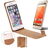 K-S-Trade Cork Case Flip Style Cover for Haier Leisure L56,
