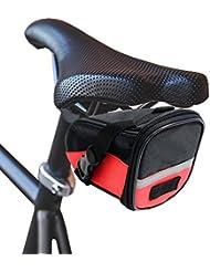KurtzyTM Sacoche sac Coffre pochette Imperméable Rouge pour Selles de Vélos