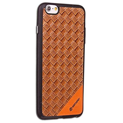 JIALUN-étui pour téléphone Housse de protection pleine peau Soft TPU Housse de motif de style tissage en silicone Housse de protection arrière Antishock pour iPhone 6 et 6s ( Color : Black ) Brown