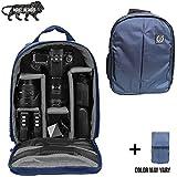 Brain Freezer DSLR/SLR Camera Lens Shoulder Backpack Case for Canon Nikon Sigma Olympus Camera Dark Blue
