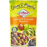 Crespo Cocktail d'Olives Pimentées 100 g Net - Lot de 5