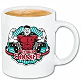 Reifen-Markt Tasse à café Premium Crossfit Bodybuilding Gymnase Musculation Gymnase Muskelaufbau Supplements Weightlifting Bodybuilder Céramique 330 ML en Blanc