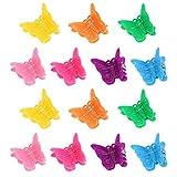 Frcolor Haargreifer Klaue Clips Pins Mini Schmetterling Haarspangen Haarschmuck Frisurenhilfe Set für Kinder Mädchen Frauen 100 Stück