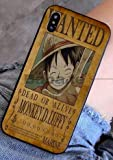 Art-design Coque iPhone 7 et iPhone 8 Luffy One Piece Japon Wanted Dessin Animé Silicone Souple