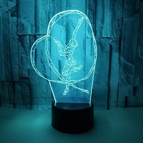 he Gymnastik 3D-Lichter Bunte Touch Visuelle Lichter Geschenk Kleine Tischlampe Usb3D Nachtlicht-Led ()