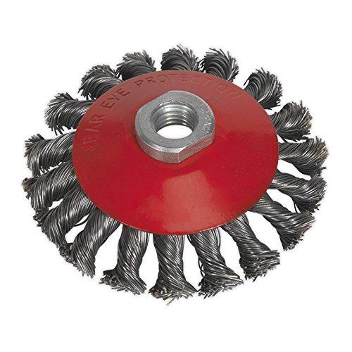SEALEY cwb100 Brosse métallique conique 100 mm M10 x 1,5 mm