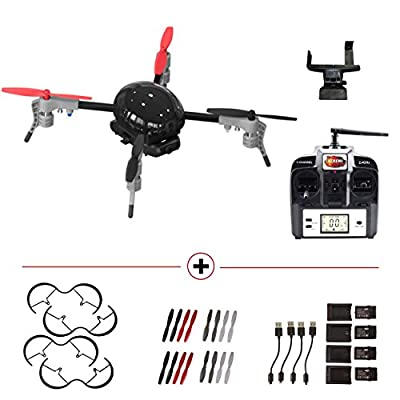 Micro Drone 3.0 incl. HD-Camera, Remote Control with Smartphone Cradle and Extension Pack: Batteries, Charging Stations, Propellers