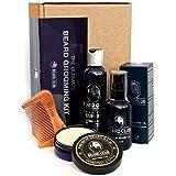 The Ultimate Beard Grooming Kit - Geschenkset mit hochwertigem Premium-Bartöl, Balsam, Shampoo, Kamm & Box - Das diesjährige beste Geschenk für Männer, die lieben, ihre Bärte zu pflegen