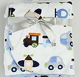 #10: Guru Kripa Baby Products™ Presents Double Layer Velvet Fleece Printed Baby AC Blanket Cum Warm up Fleece Blanket Cum Sleeping Bag Double Layered 100% Soft Stroller Flalane Receiving Sleeping Bag Size 102cm X 76cm (Sky Blue)