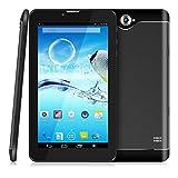 7 Zoll 3G Tablet PC,512 RAM+8G ROM,Dual-SIM,IPS HD Display 1024x600,Quad Core CPU,Android 4.4.2,WIFI WLAN Bluetooth,4 Farben zur Wahl Schwarz von QIMAOO