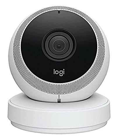 Logitech Circle Security Camera - Wireless HD 1080p CCTV Monitoring with Two-Way Talk, Ideal Pet Cam and Baby