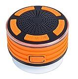 Stoga IP67 impermeabile / antiurto subacquea senza fili Bluetooth Stereo Speaker microfono per vivavoce con radio FM, lettore mp3, e pišŽ funzioni luce di colore del LED /Orange immagine