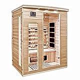 Home Deluxe – Infrarotkabine – Gobi L – Vollspektrumstrahler – Holz: Hemlocktanne - Maße: 153 x 110 x 190 cm – inkl. vielen Extras und komplettem Zubehör - 3