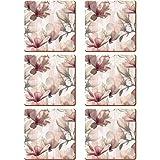 Creative Tops Magnolia Premium Unterseite aus Kork Untersetzer, Holz, Pink, 6