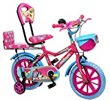 "NY Bikes Buzzer 14"" Kids Bicycle for 3-5 Years (Pink & Sky) Kids"