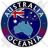 AUSTRALIEN OZEANIEN Australische Flaggenkarte Form 100mm Auto & Motorrad Aufkleber, Vinyl Sticker