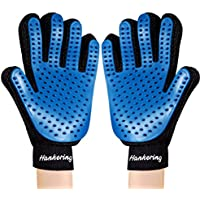 Hankering 2PCS Pet Bürste Handschuh, Haustier Grooming Bürsten Deshedding Glove Massage-Handschuh Pflegenbürste Tierhaar-Handschuh Haarentferner