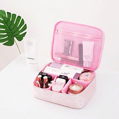 Boîte de rangement cosmétique sac cosmétique cosmétiques plein air voyage mode bain organisateur de maquillage maquillage stockage de brosse de maquillage cadeau de petite amie surprise garçons pour les filles porte-rouge à lèvres sac portable imperméable femme-J