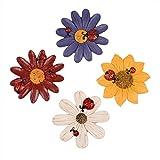 Best Gardeningwill decoraciones de Navidad - Set de 4Aldea elegante diseño de flores colorido Review