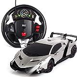 PETRLOY Haute vitesse 2.4GHZ électronique RC voiture jouets 1:24 échelle avec gravité induction télécommande électrique rechargeable rapide sport racing super voiture de sport jouets de passe temps vé